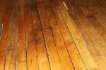 The original wooden floor in the main hall.
