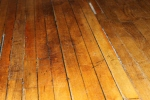 The original wooden floor in the main hall.