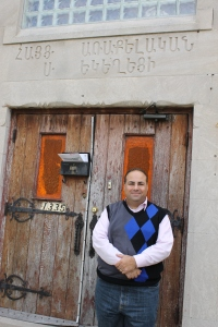 I am pretty sure these are the original doors I am standing in front of at the St. John's church on Oakman.
