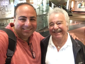 The AYF Olympic weekend brought many Armenian musicians together. Here I am with Onnik Dinkjian, legendary Armenian troubadour singer and friend.