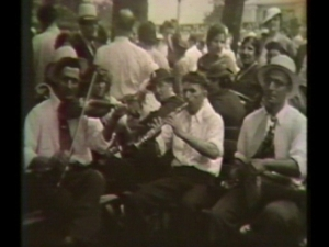 Armenian musicians playing at the Michigan State Fairgrounds in 1935.