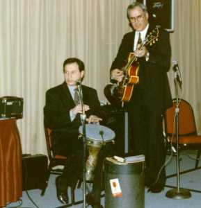 Roger Krikorian on dumbeg and Ken Kalajian on guitar